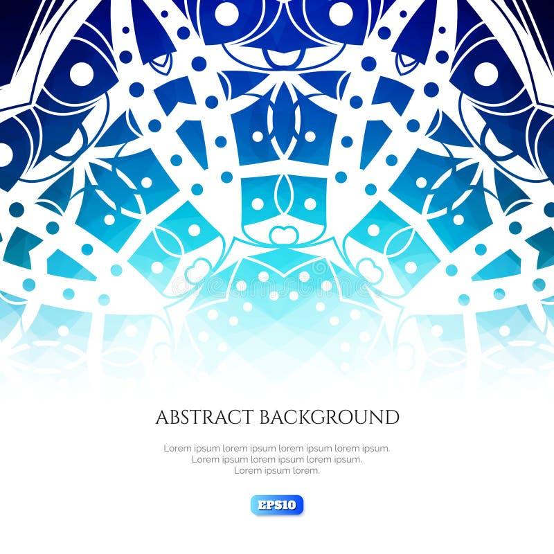 abstrakt bakgrundsvinter Kalla skuggor av färger Isblomma på en blå bakgrund royaltyfri illustrationer
