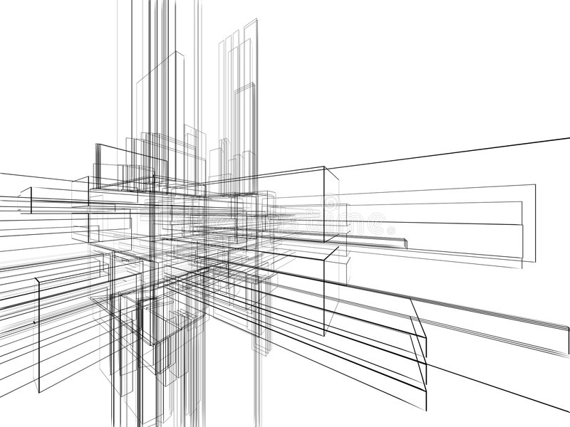 abstrakt bakgrundswhitewireframe stock illustrationer