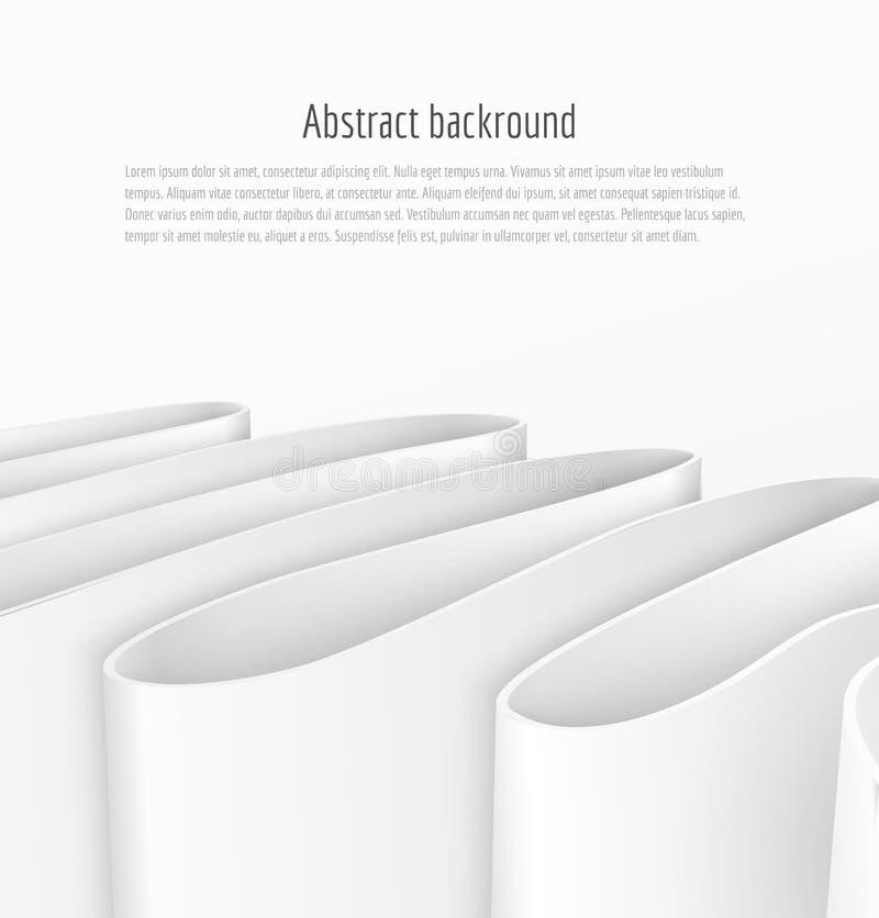 Abstrakt bandbakgrund för vitbok 3d vektor illustrationer