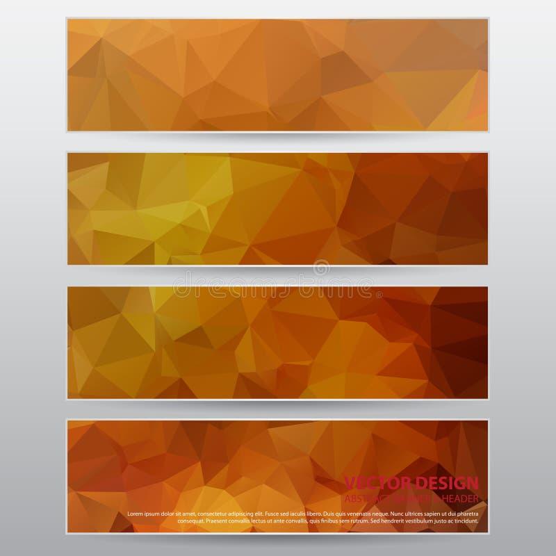 Abstrakt baner för design, vektorarbete royaltyfri illustrationer