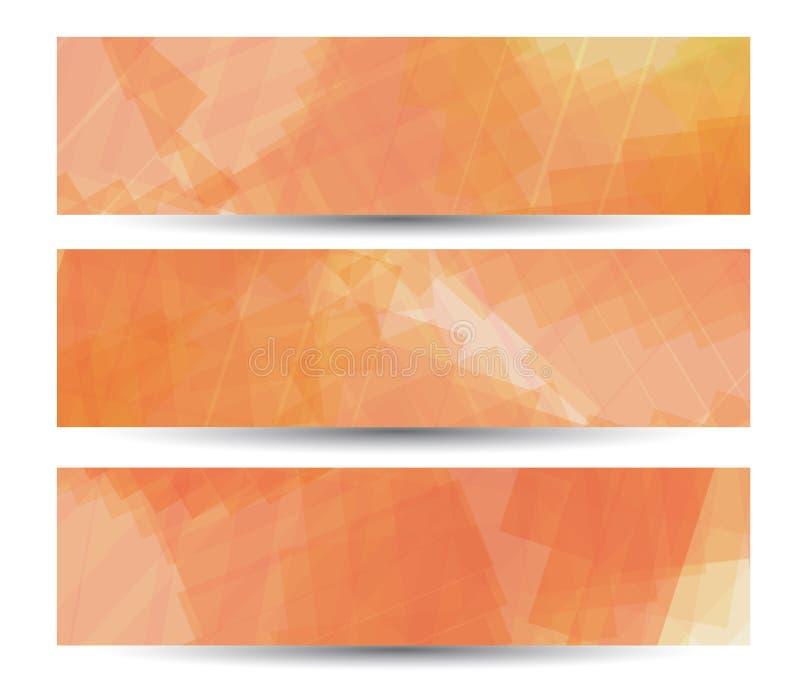 Abstrakt baner för din design, färgrikt digitalt royaltyfri illustrationer