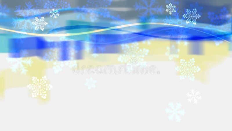 Abstrakt baner med snöflingor stock illustrationer