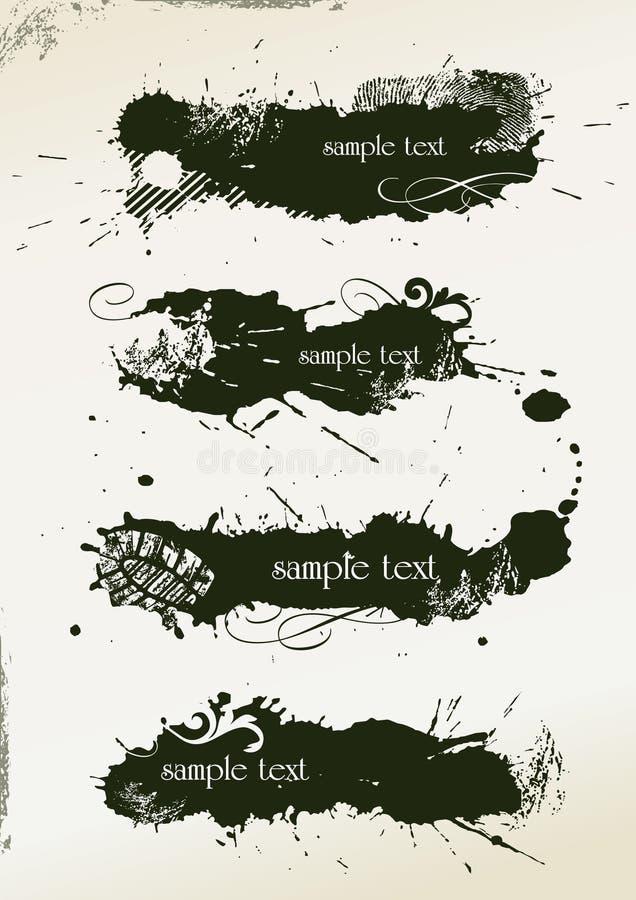 abstrakt banergrunge vektor illustrationer