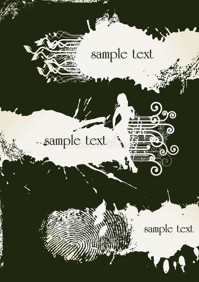 abstrakt banergrunge stock illustrationer