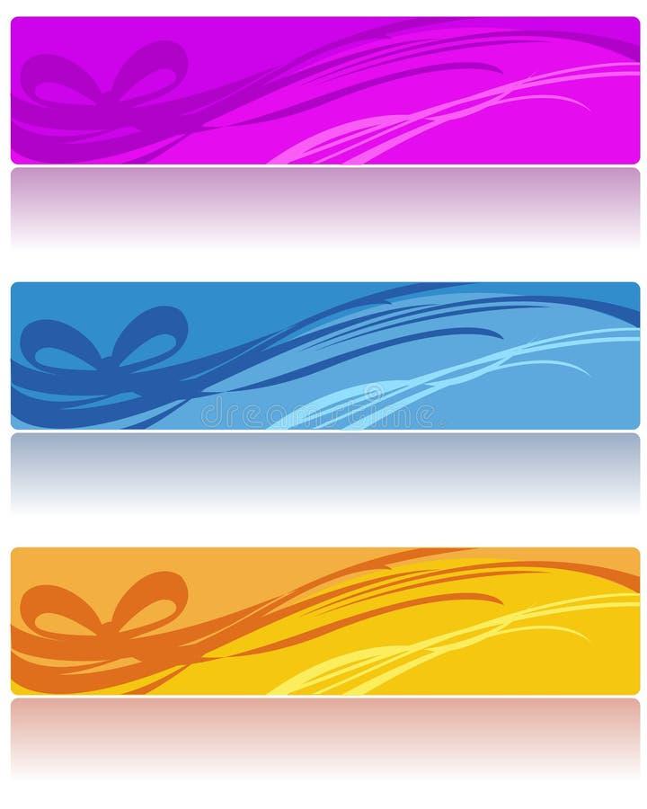 abstrakt banerrengöringsduk stock illustrationer