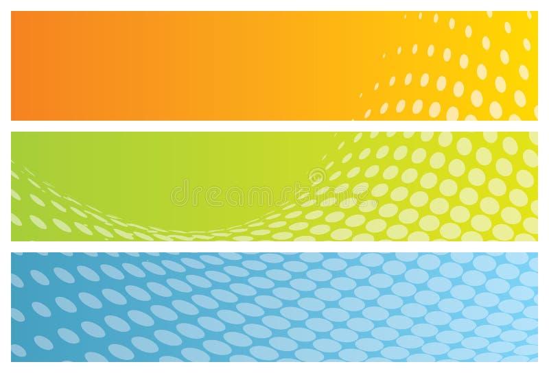 abstrakt banertitelrader vektor illustrationer