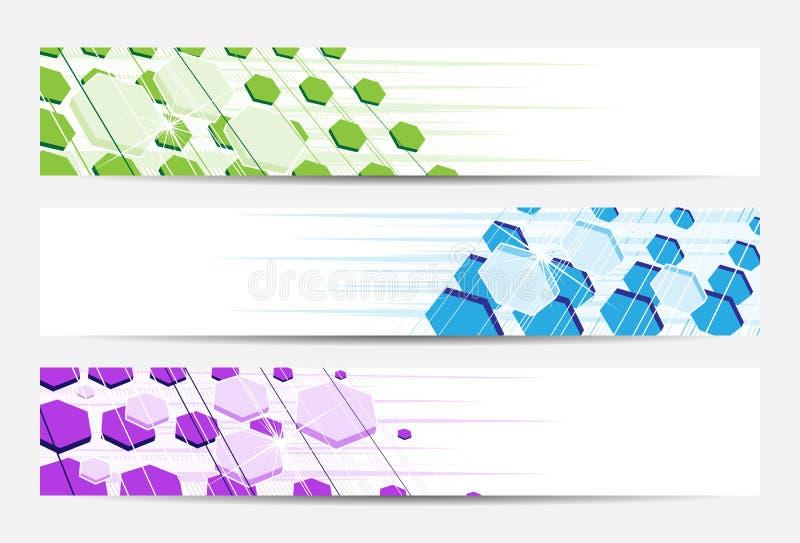 abstrakt banertitelradwebsite stock illustrationer