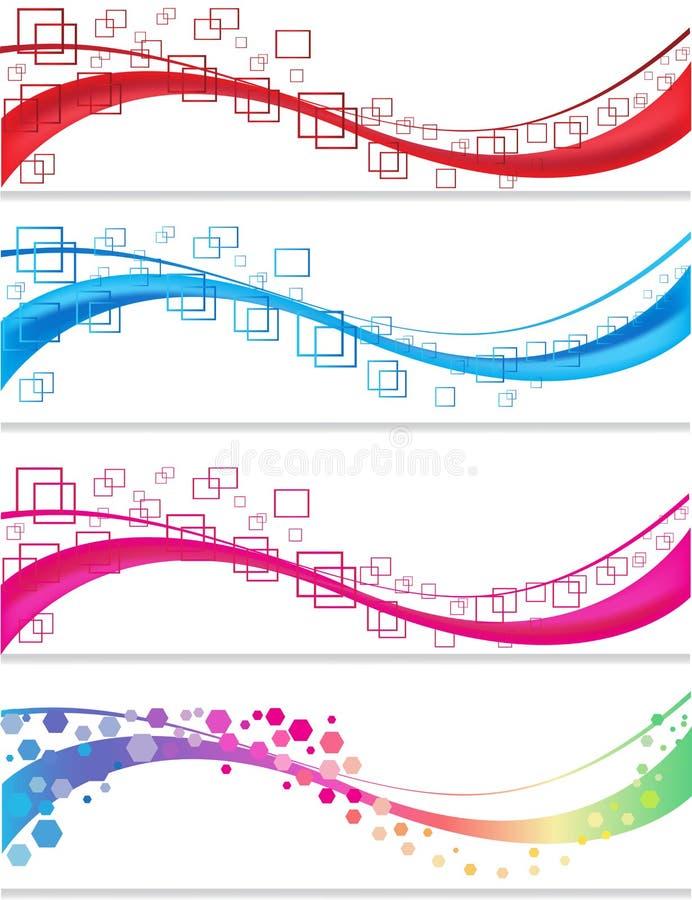 Abstrakt baneruppsättning stock illustrationer