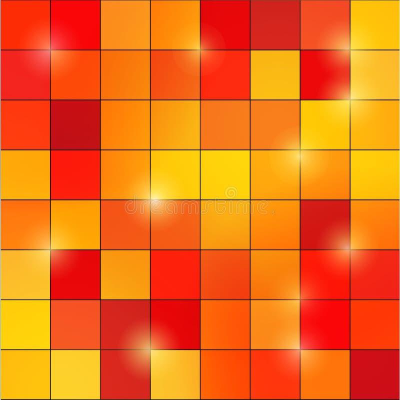 Abstrakt barwiący kwadratowy piksel mozaiki tło ilustracja wektor