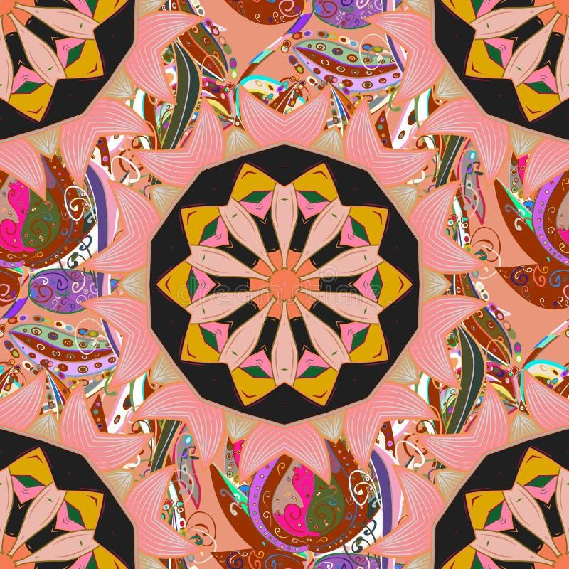Abstrakt barwiący obrazek ilustracji
