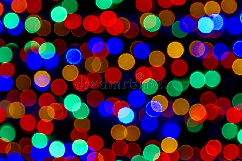 Abstrakt barwiący zaświeca bokeh tło zdjęcie royalty free
