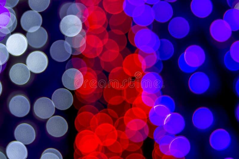 Abstrakt barwiący zaświeca bokeh tło obrazy stock
