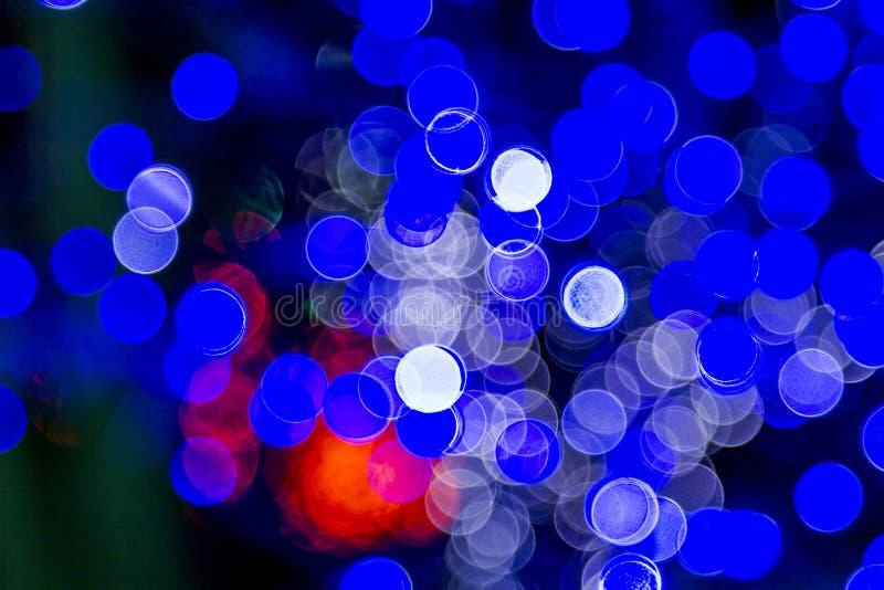 Abstrakt barwiący zaświeca bokeh tło zdjęcia royalty free