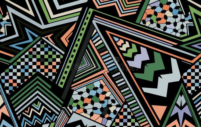 Abstrakt barwił tła składać się z linie i trójboki ilustracji