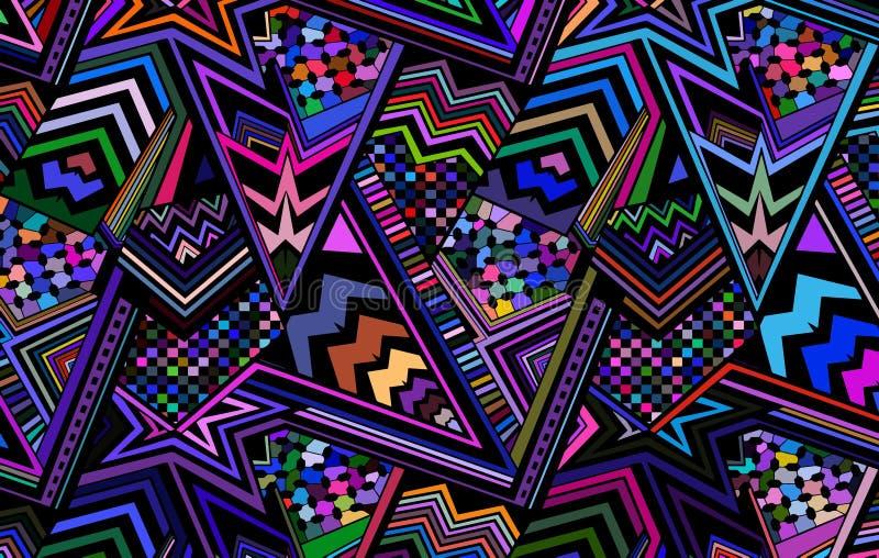 Abstrakt barwił tła składać się z linie i trójboki ilustracja wektor