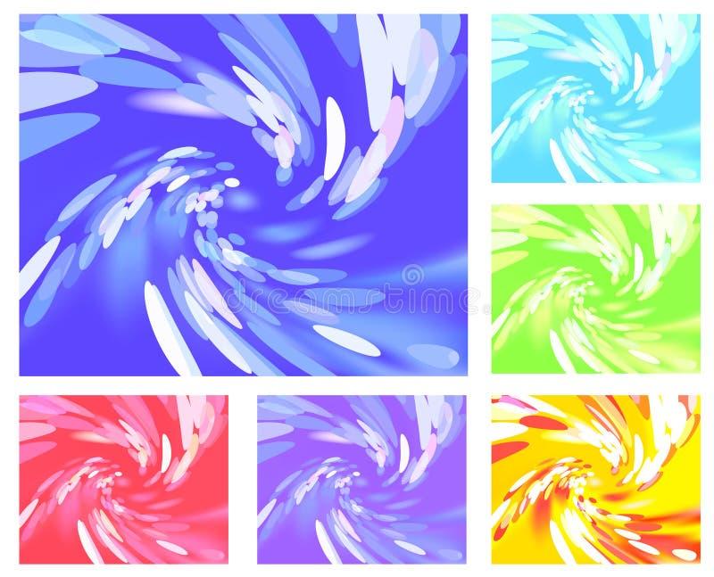 abstrakt barwi różnego lekkiego vortex royalty ilustracja
