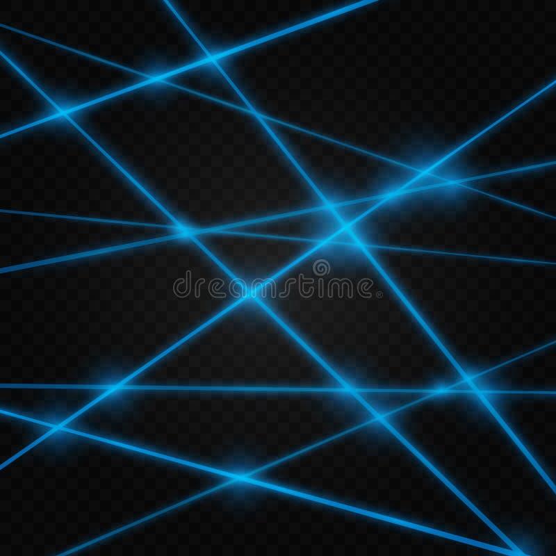 Abstrakt barwi wiązkę laserową Przejrzysty odizolowywa na czarnym tle royalty ilustracja