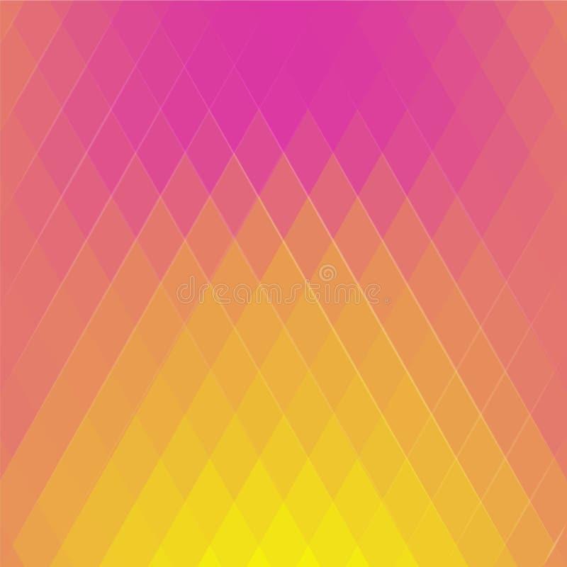 Abstrakt barwiona ilustracja trójboki Geometryczny mozaiki tło royalty ilustracja