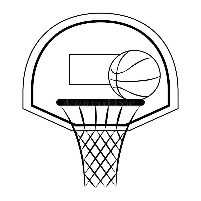 Download Abstrakt basketetikett vektor illustrationer. Illustration av domstol - 106826555