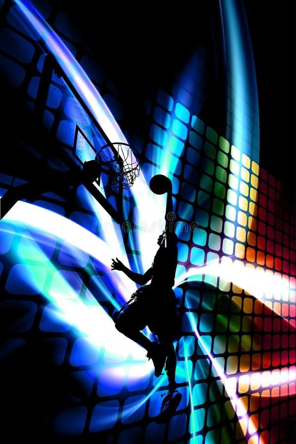 abstrakt basketsilhouette stock illustrationer