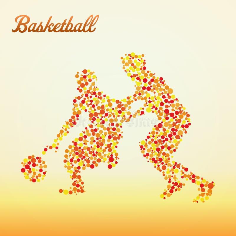 abstrakt basketspelare stock illustrationer