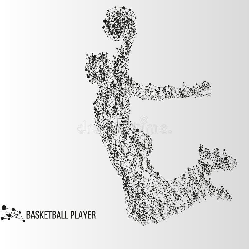 abstrakt basketspelare royaltyfri illustrationer