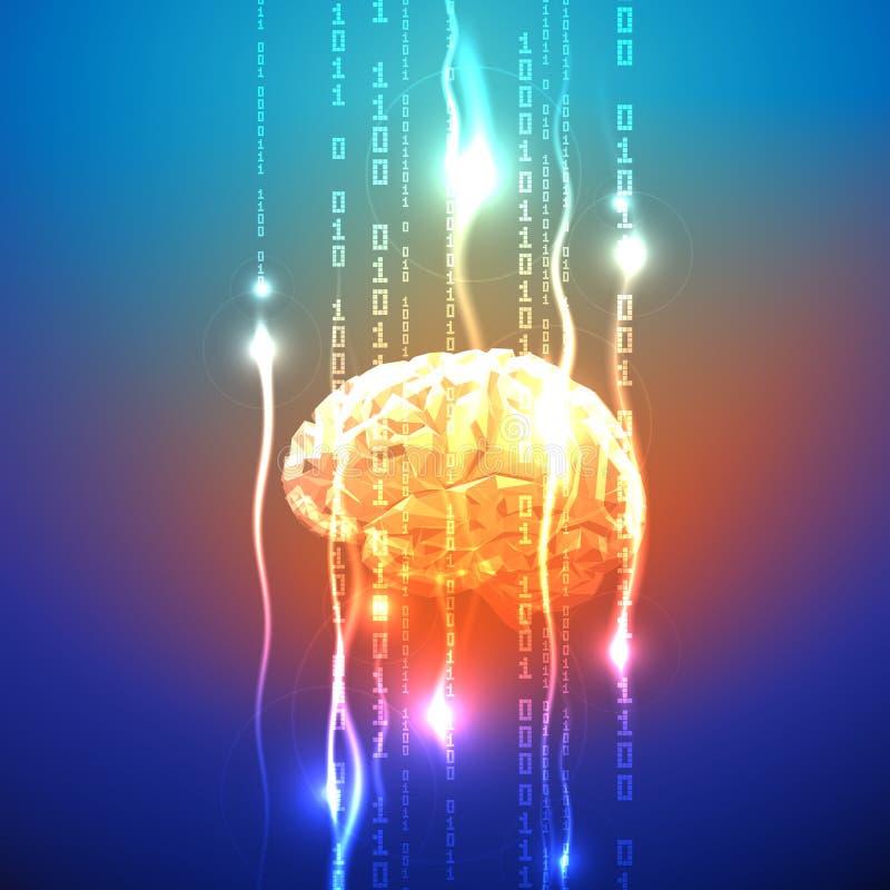 Abstrakt begrepp av aktivitet för mänsklig hjärna stock illustrationer