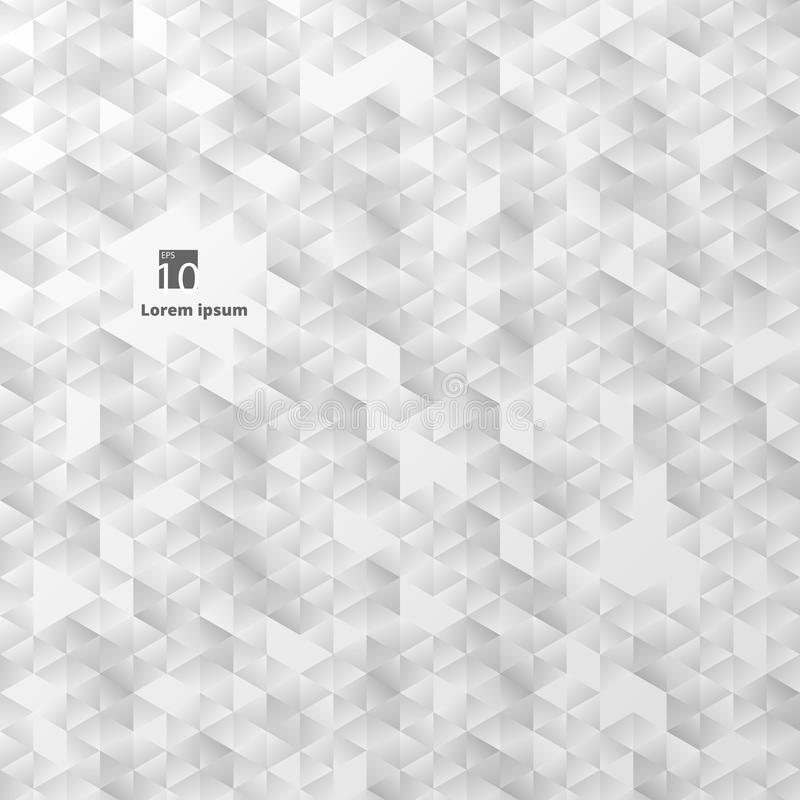 Abstrakt begrepp av den vanliga geometriska triangeln i grå lutningfärgbakgrund stock illustrationer