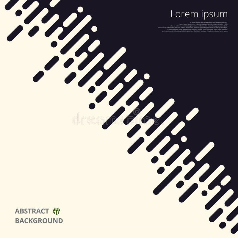 Abstrakt begrepp av det svartvita bandet fodrar för affärspresentationsbakgrund stock illustrationer