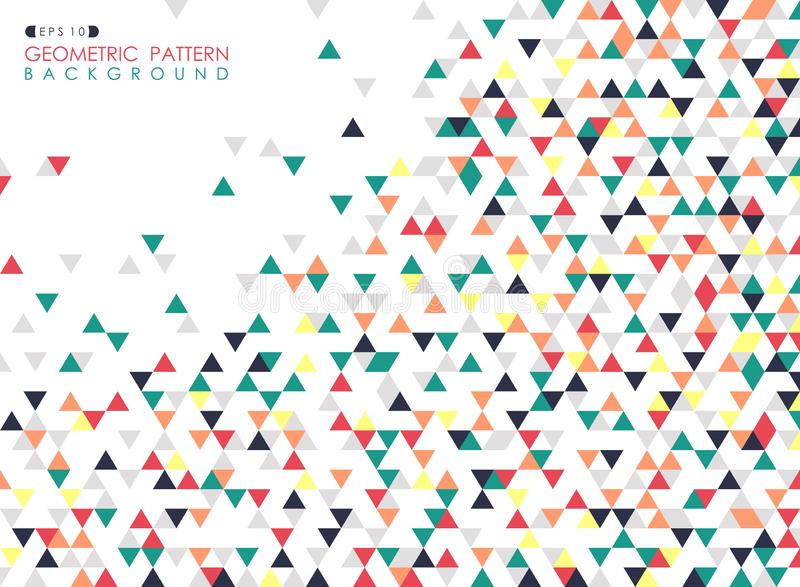 Abstrakt begrepp av för modellräkning för färgrik triangel geometrisk bakgrund stock illustrationer