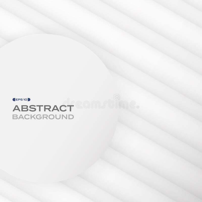Abstrakt begrepp av geometrisk bakgrund för vitboksnittmodell royaltyfri illustrationer