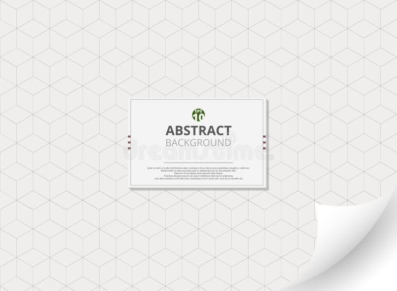 Abstrakt begrepp av geometrisk kubmodellbakgrund med kopieringsutrymme och lutningflipsidan stock illustrationer
