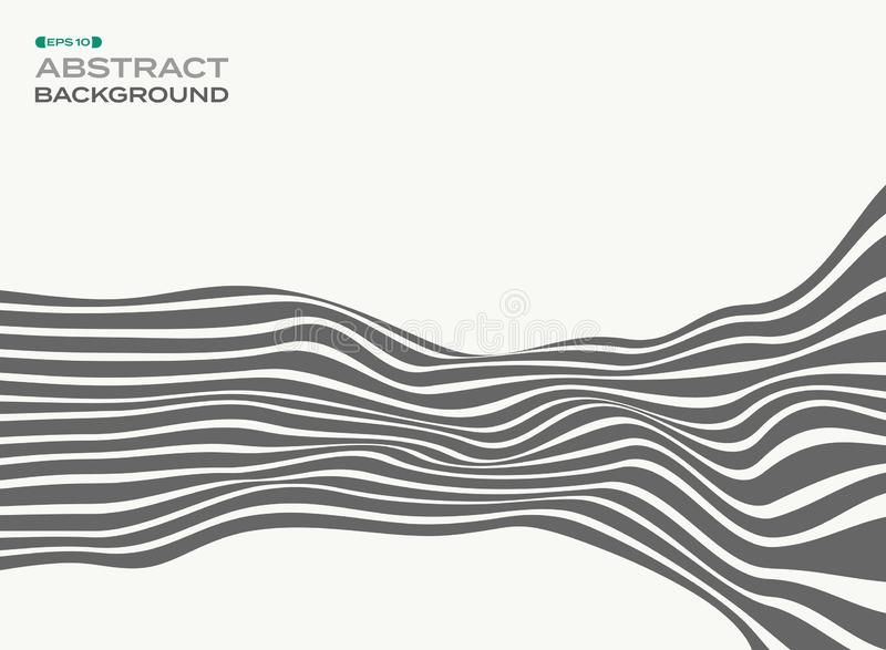 Abstrakt begrepp av gråa stilfulla remsalinjer vinkar backgroun för vågmodellen vektor illustrationer