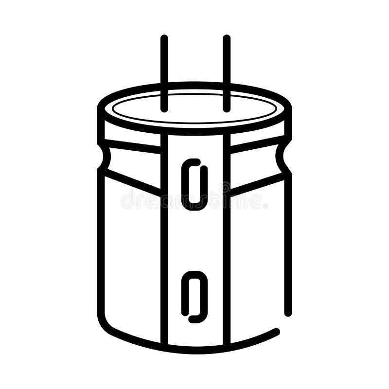 Abstrakt begrepp av kondensatorn Symbol av kondensatorn Det elektroniskt stock illustrationer