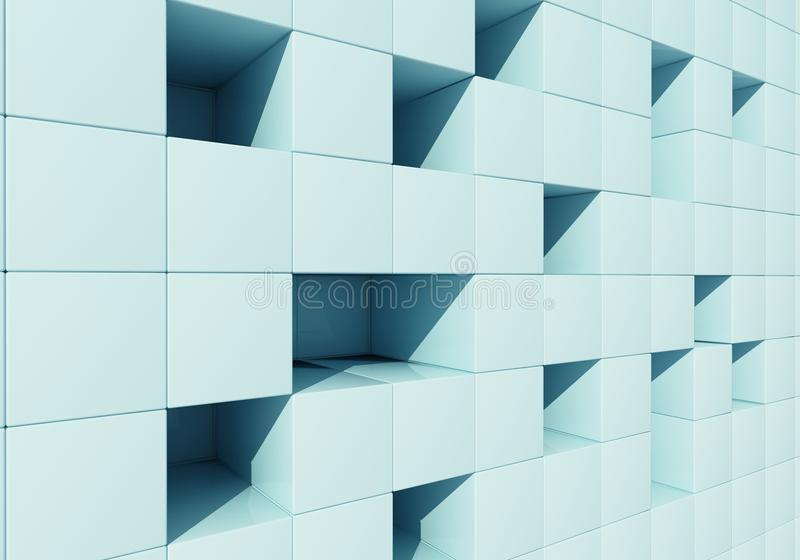 Abstrakt begrepp avbildar av kuber royaltyfri illustrationer