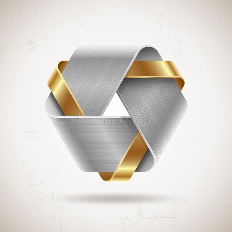 Abstrakt begrepp belägger med metall formar stock illustrationer