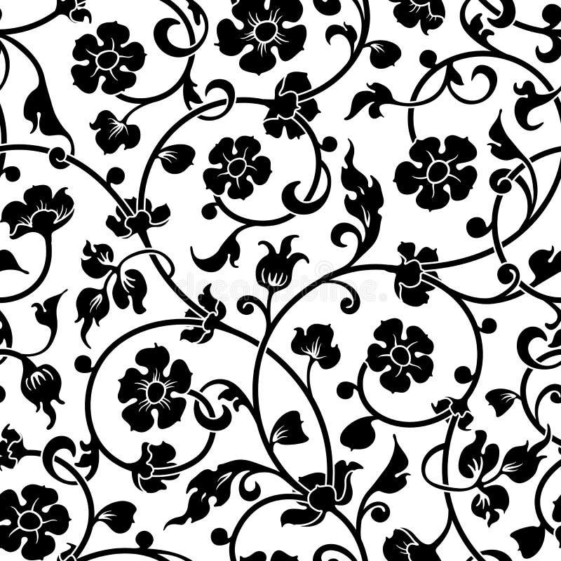 Abstrakt begrepp blommar den barocka sömlösa modellen vektor illustrationer