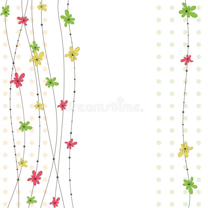 abstrakt begrepp blommar illustrationvektorn royaltyfri illustrationer