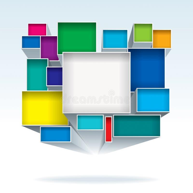 Abstrakt begrepp boxas stock illustrationer