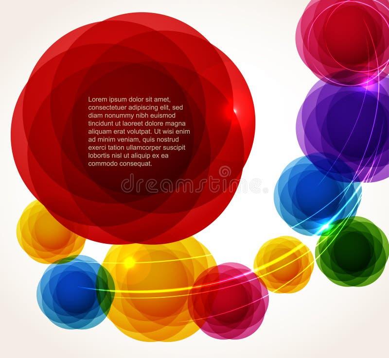 abstrakt begrepp bubbles färgseten vektor illustrationer