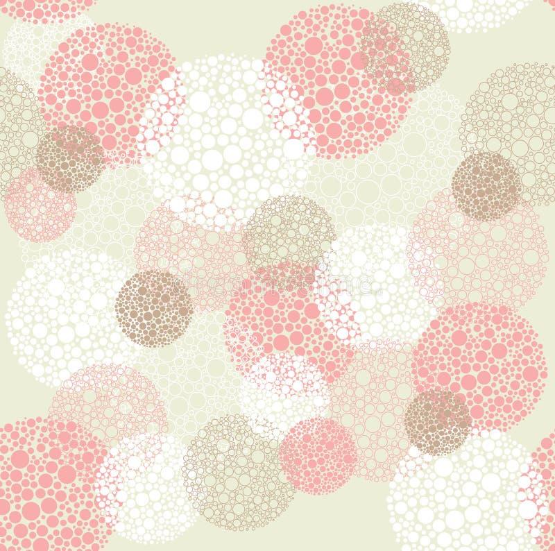 abstrakt begrepp cirklar den seamless polkaen för prickmodellen stock illustrationer