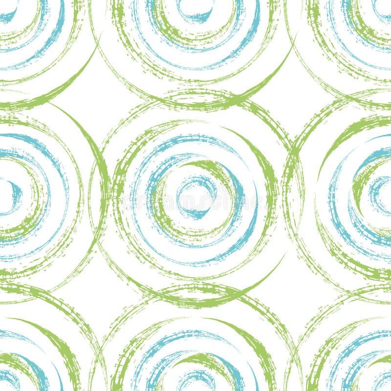 Abstrakt begrepp cirklar sömlös modelldesign stock illustrationer