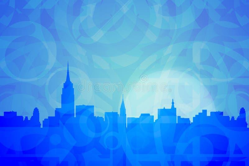 abstrakt begrepp colors New York royaltyfri illustrationer