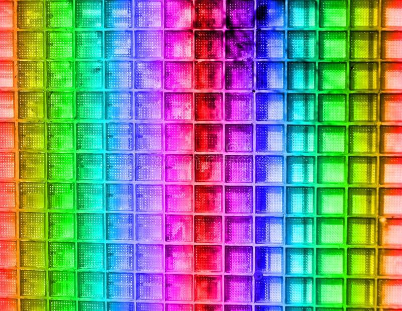 abstrakt begrepp details för regnbågefyrkanten för diskot den glass väggen royaltyfri fotografi