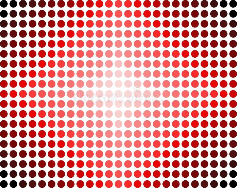 abstrakt begrepp dots red stock illustrationer