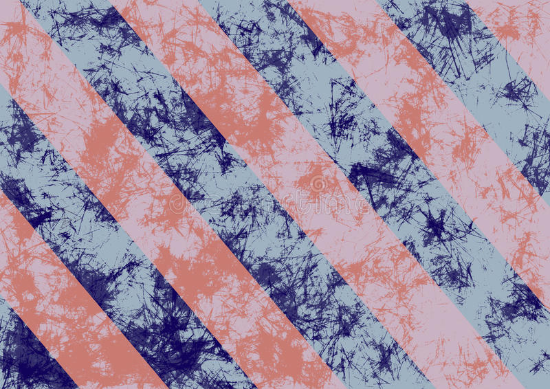 Abstrakt begrepp dragen grungebakgrund i rosa färger färgar med diagonala band stock illustrationer