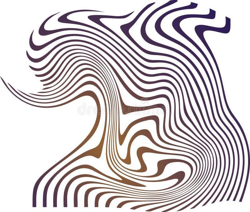 Abstrakt begrepp driver tillbaka för bakgrundsvektorn för bruna marinblåa remsor vit bakgrund för illustrationen vektor illustrationer