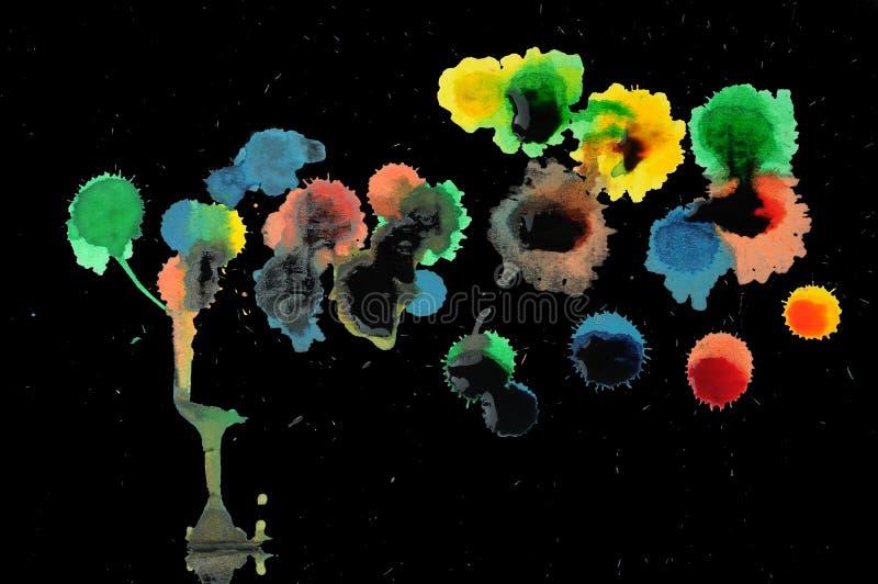 abstrakt begrepp dryper ner målarfärg royaltyfria foton