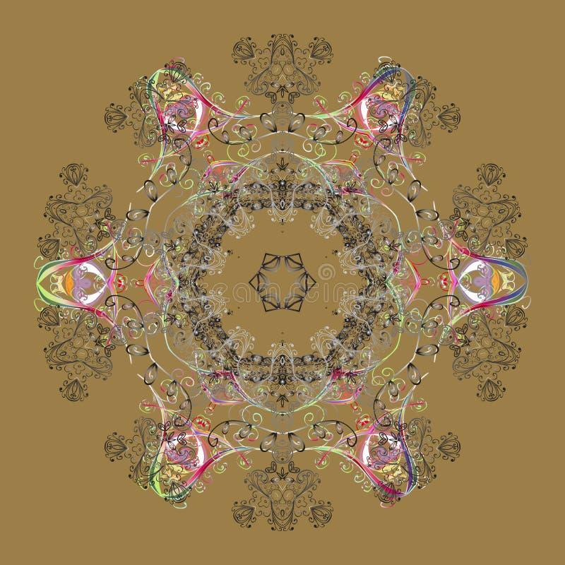 Abstrakt begrepp färgad bild stock illustrationer