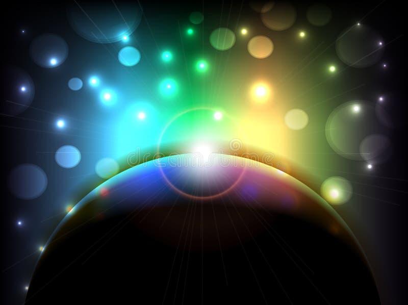 Abstrakt begrepp färgar belysningbakgrund vektor illustrationer
